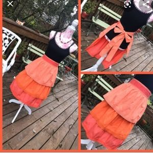 Pier 1 Imports Coral Ruffle Apron